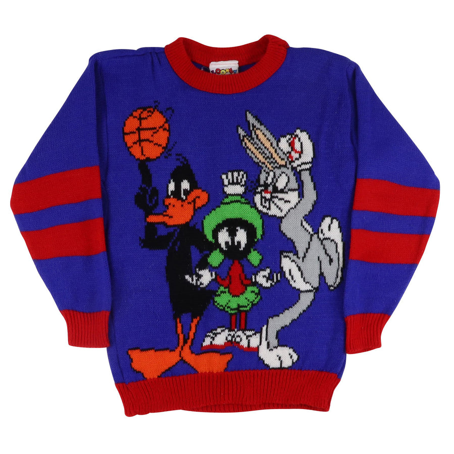 1993 Warner Bros Looney Tunes Knit Sweater XS Youth