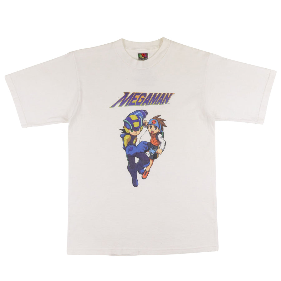2000s Megaman Anime Print Video Game Boy Advance T-Shirt L Youth