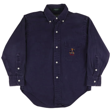 1993 Polo Ralph Lauren Sit Down Bear Oxford Shirt S Youth