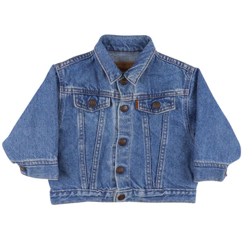 1980s Levi's Orange Tab Type 4 Snap Front Jean Jacket 18 Months