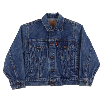 1980s Levi's Red Tab Type 4 Snap Front Jean Jacket S Youth