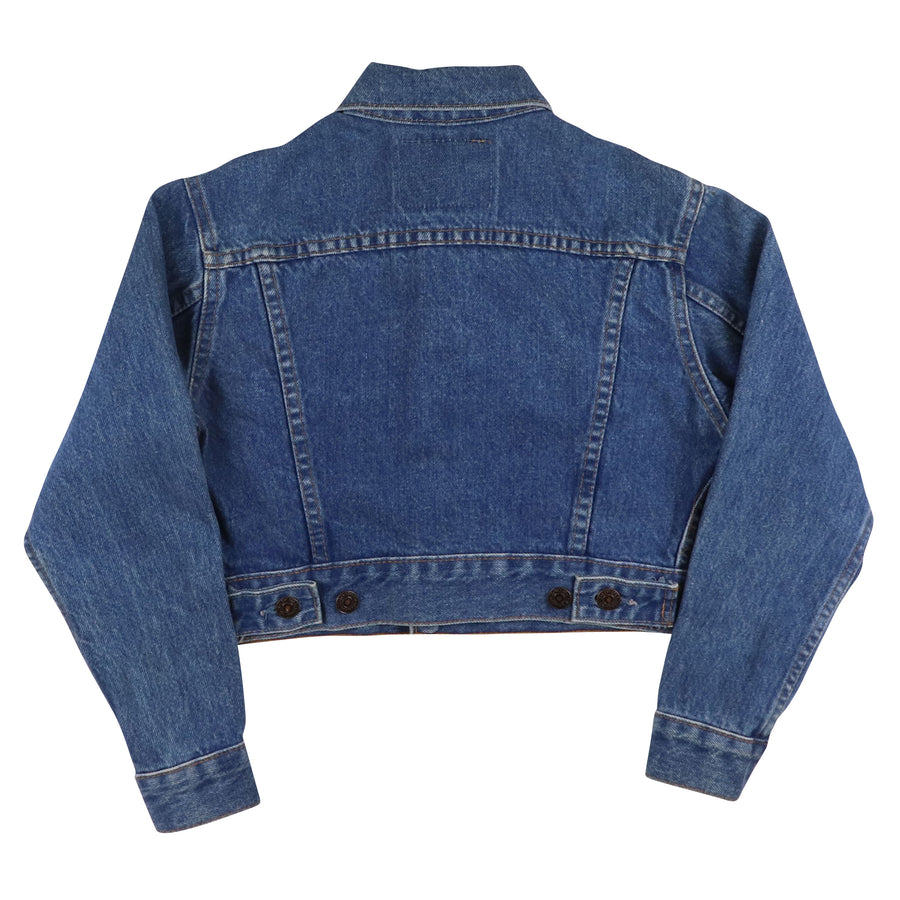 1980s Levi's Type 4 Button Front Cropped Jean Jacket M Youth