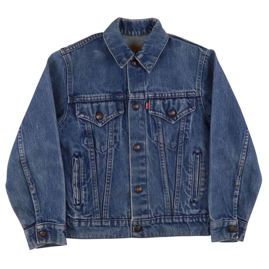 1980s Levi's Red Tab Type 4 Snap Front Jean Jacket M Youth