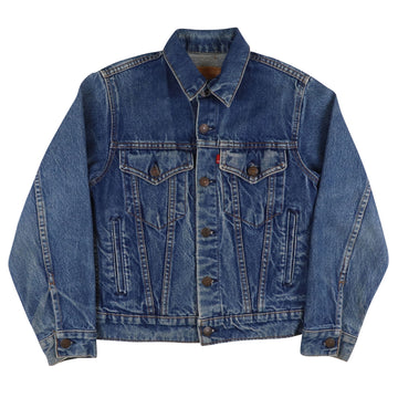 1980s Levi's Red Tab Type 4 Button Front Jean Jacket L Youth