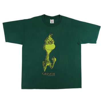 1997 Dr. Seuss The Grinch Face Print T-Shirt XL