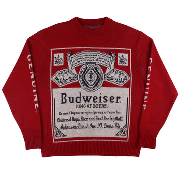 1970s Budweiser King Of Beers Promo Knit Sweater L