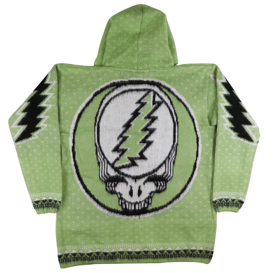 2017 Grateful Dead Steel Your Face Fuzzy Zip Front Hooded Jacket L