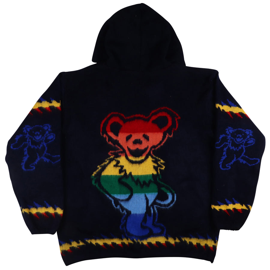 2018 Grateful Dead Jerry Bear Fuzzy Zip Front Hooded Jacket 2XL