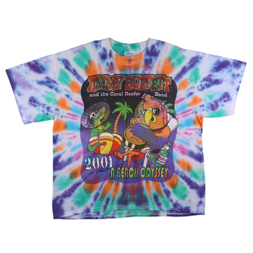 2001 Jimmy Buffet & The Coral Reefer Band 'A Beach Odyssey' Tie Dye T-Shirt XL