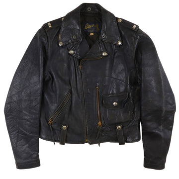 1950s Buco J-24 Horsehide Guns N' Roses Patch Womens Motorcycle Jacket XS