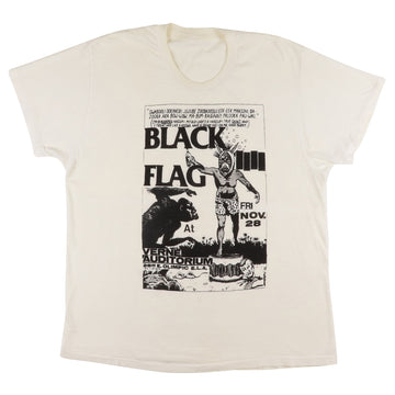 1980s Black Flag Original Flyer Head Shop Parking Lot T-Shirt L