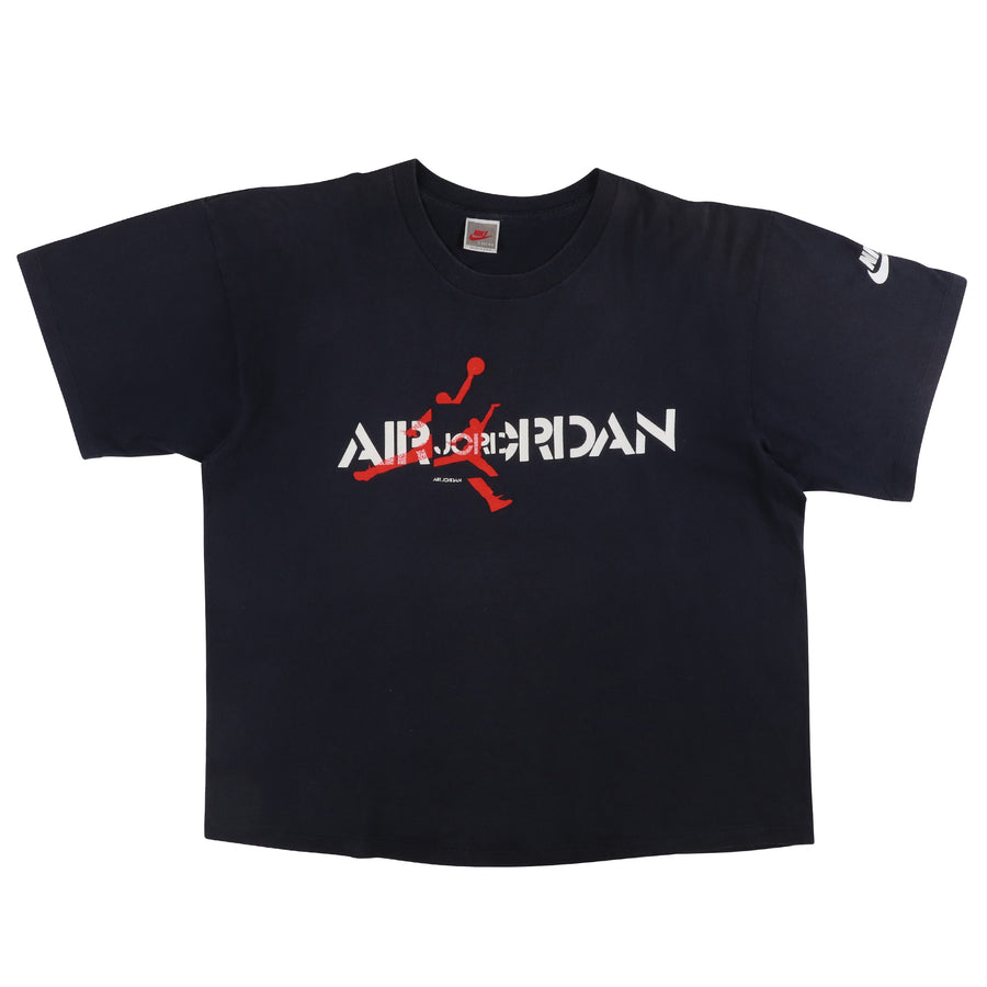 1990s Nike Air Jordan V Spell Out Jumpman Print T-Shirt L