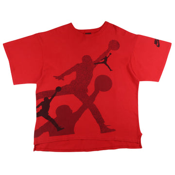 1990s Nike Flight Oversized Jumpman Print T-Shirt L