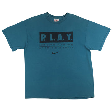 1990s Nike PLAY Participating I'm The Lives Of America's Youth T-Shirt L