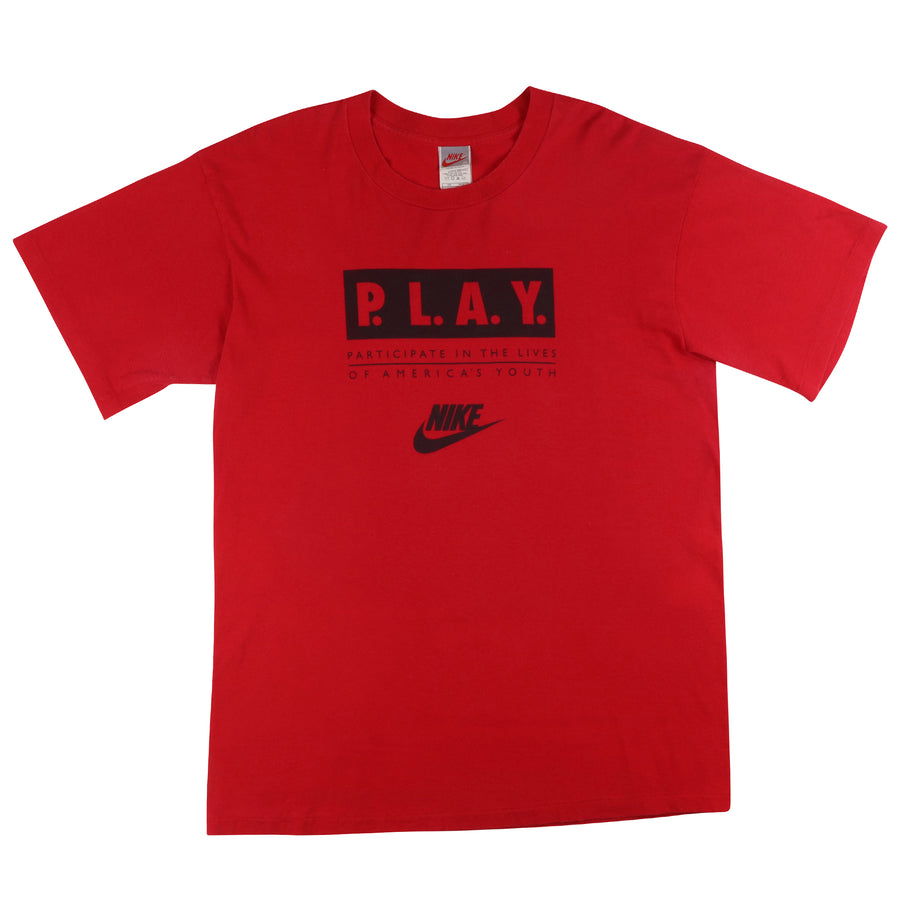 1990s Nike P.L.A.Y. 'Participating I'm The Lives Of America's Youth' T-Shirt XL