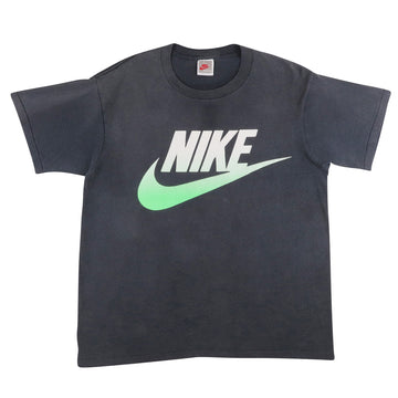 1990s Nike Gradient Oversized Swoosh Faded T-Shirt M