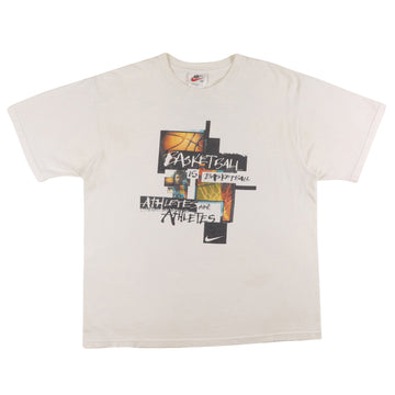 1990s Nike 'Basketball Is Basketball, Athletes Are Athletes' T-Shirt M