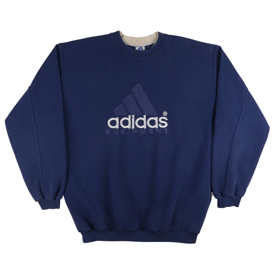 1990s Adidas Equipment Embroidered Oversized Logo Bootleg Sweatshirt 2XL