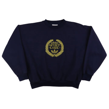 1980s Adidas 'Sport Lore' Trefoil Gold Embroidery Sweatshirt M