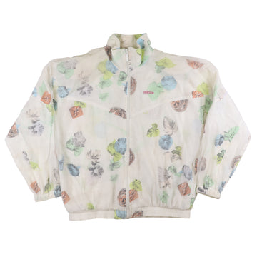 1980s Adidas Womens Sheer Overlay Butterfly Print Track Jacket M