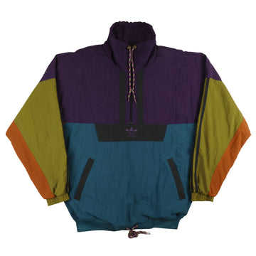 1990s Adidas Half Zip Colour Block Pullover Track Jacket L