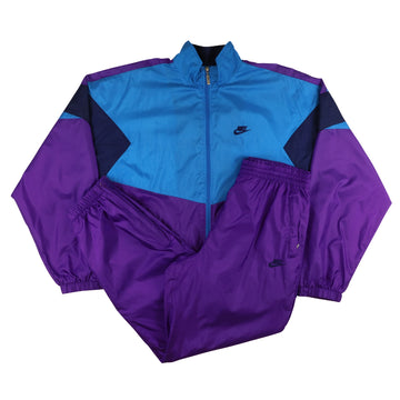 1990s Nike 'Sports Classic' Colour Block Lined Tracksuit L