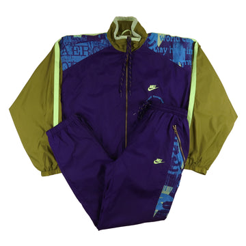 1990s Nike Maximal Power Lined Tracksuit S