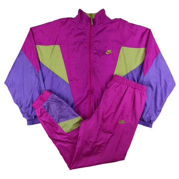 1990s Nike Colour Block Lined Tracksuit L
