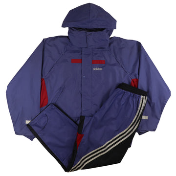1990s Adidas Colour Block Hooded Tracksuit M/L