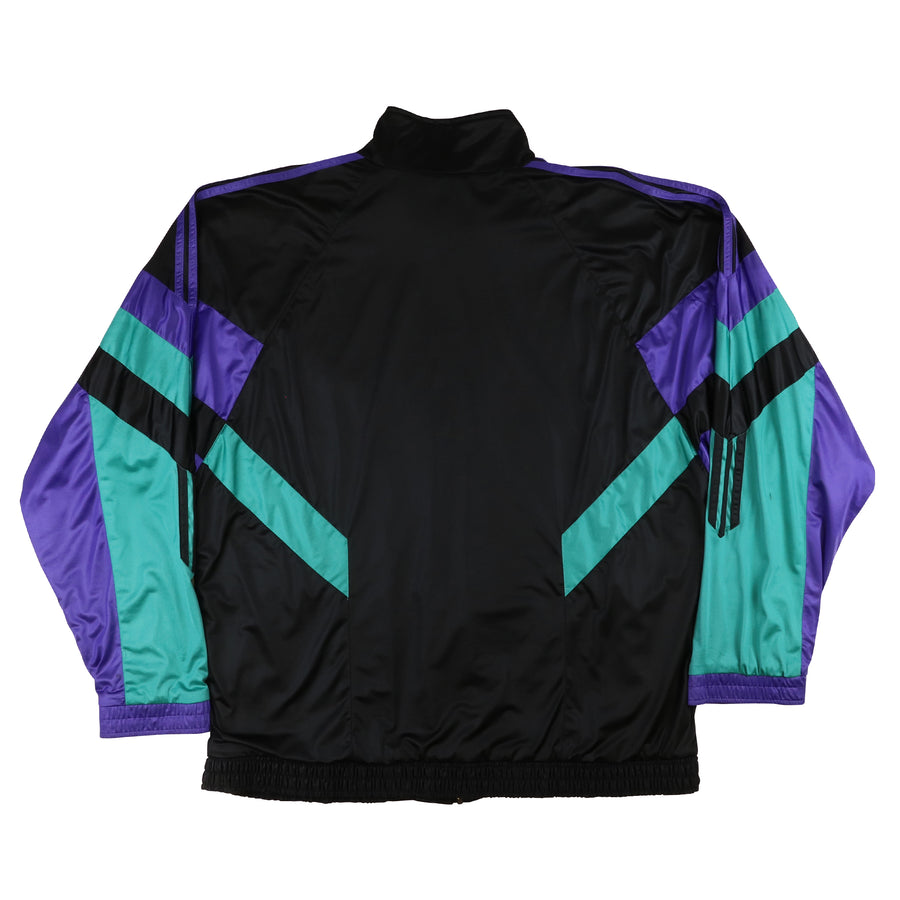 1980s Adidas Colour Block Lined Tracksuit L