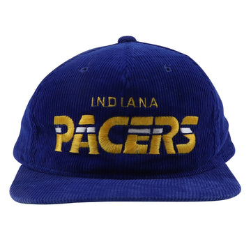 1980s Starter Indiana Pacers Corduroy Classic Spell Out Snapback Hat