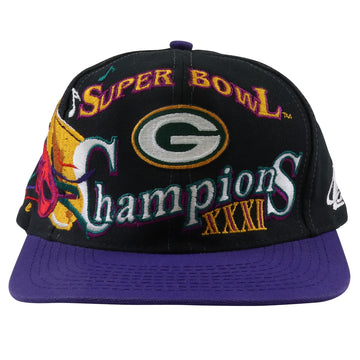 1997 Logo Athletic Super Bowl XXXI Green Bay Packers Snapback Hat