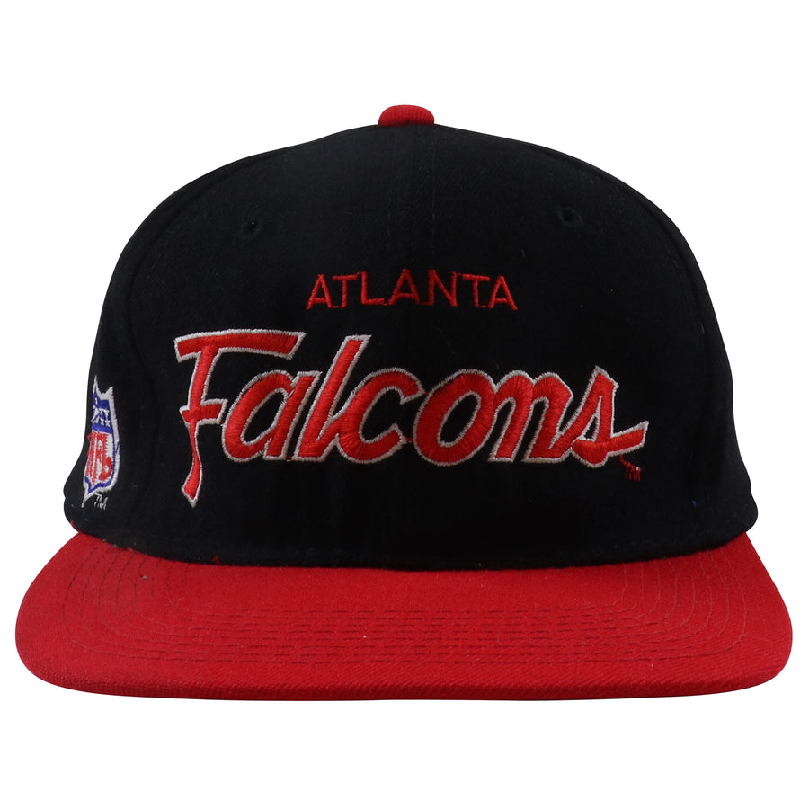 1990s Sport Specialties Atlanta Falcons Draft Day Script Fitted Hat 7 1/2