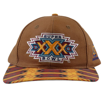 1996 Logo Athletic Super Bowl XXX Southwestern Print Snapback Hat