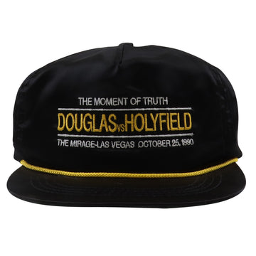 1990 Douglas vs. Holyfield The Moment Of Truth Satin Boxing Strapback Hat
