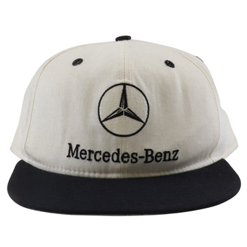 1990s New Era Mercedes Benz Grey Under Brim Two Tone Fitted Hat 7 5/8