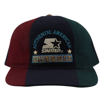 1990s Starter Authentic American Classic Three Colour Snapback Hat