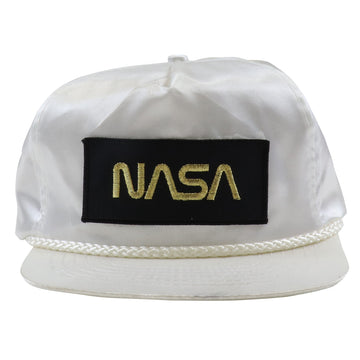 1980s NASA Space Travel Original Souvenir Satin Strapback Hat