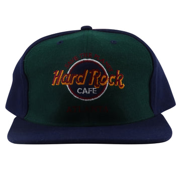1990s Hard Rock Atlanta Cafe Pinwheel Original Souvenir Snapback Hat