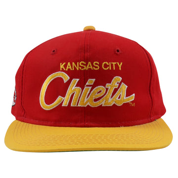 1990s Sport Specialties Kansas City Chiefs Draft Day Script Snapback Hat