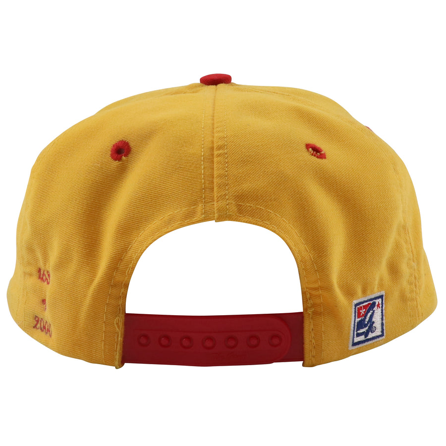 1990s The Game Atlanta Hawks Pac-Man Logo Limited Series Snapback Hat
