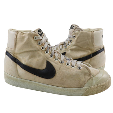 1981 Nike Canvas Blazer Hi White/Black Canvas Basketball Shoes 8