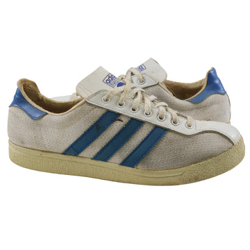 1978 Adidas Ilie Nastase Pro Model Made In France White/Blue Tennis Shoes 7.5