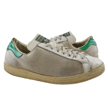 1976 Adidas Rod Laver Pro Model Made In France White/Mesh/Green Tennis Shoes 9.5