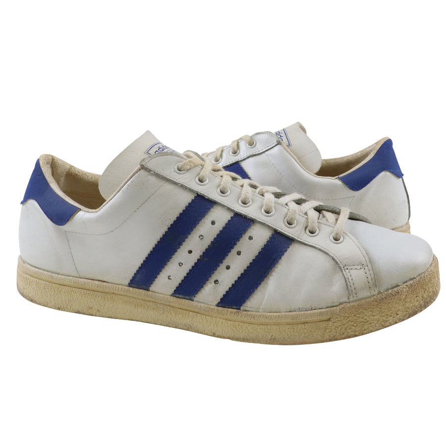 1971 Adidas Tournament White Royal Blue/White Basketball Shoes 11.5
