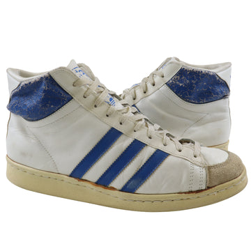 1978 Adidas Kareem Abdul Jabbar Pro Model Made In France White/Royal Blue Basketball Shoes 10.5