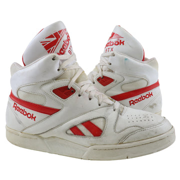 1990s Reebok BTX Ultra Hi White /Varsity Red Basketball Shoes 10