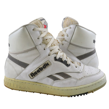 1990s Reebok 4600 White/Grey Basketball Shoes 11