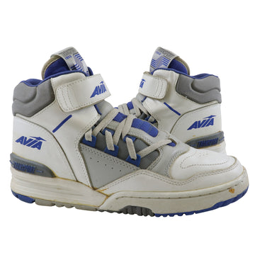 1988 Avia 1355 Transport White/Royal Blue/Grey Basketball Shoes 11