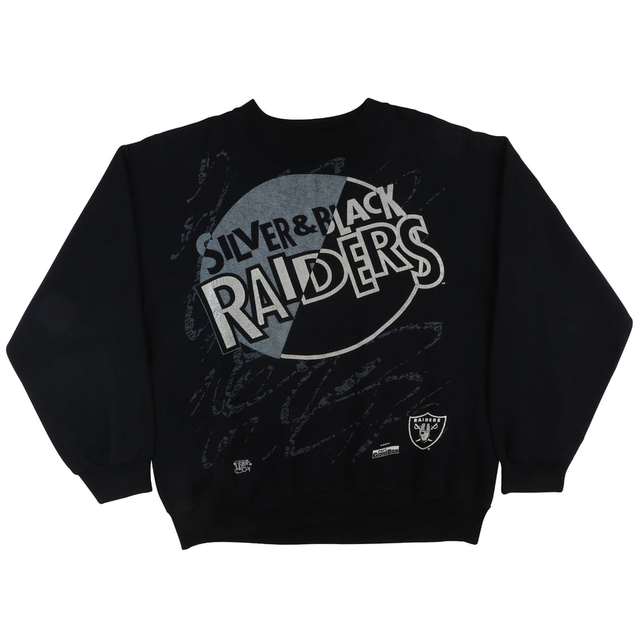 1992 Los Angeles Raiders 'Silver & Black' Sweatshirt XL